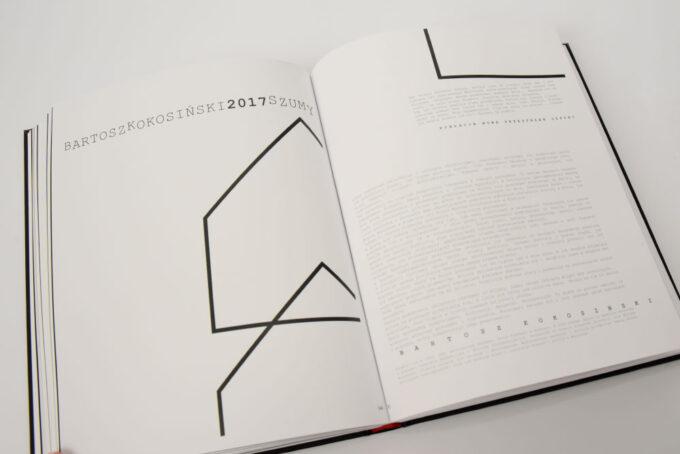 reozkładówka z tekstem i rysunkiem linearnym dachu