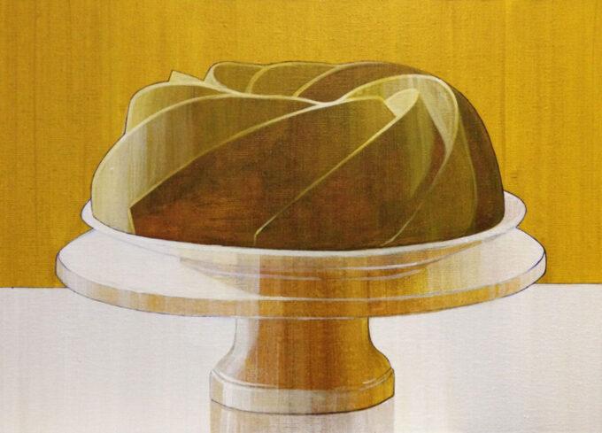 malarstwo Baba ciasto na tacy