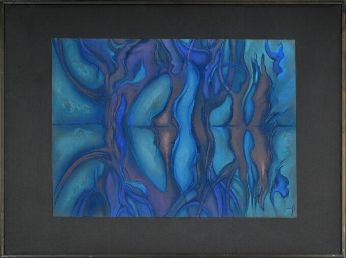 """abstrakcja obraz """"Nad Wodą"""""""