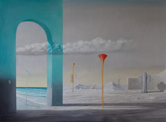 surrealizm obraz Edward Tuz Audi Adieu
