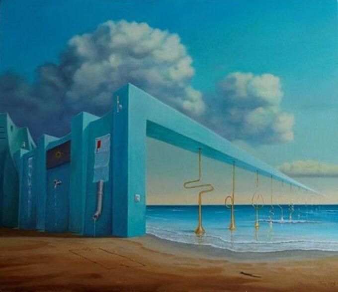 surrealizm obraz Edward Tuz Białobyl