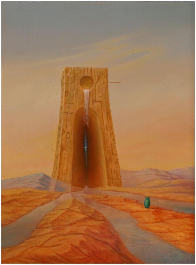 surrealizm obraz Edward Tuz Wieża