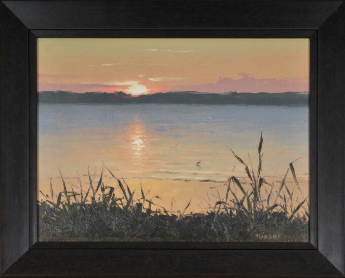Zachodem słońca nad Jeziorem